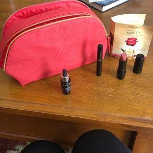 Lancôme make up bag and samples